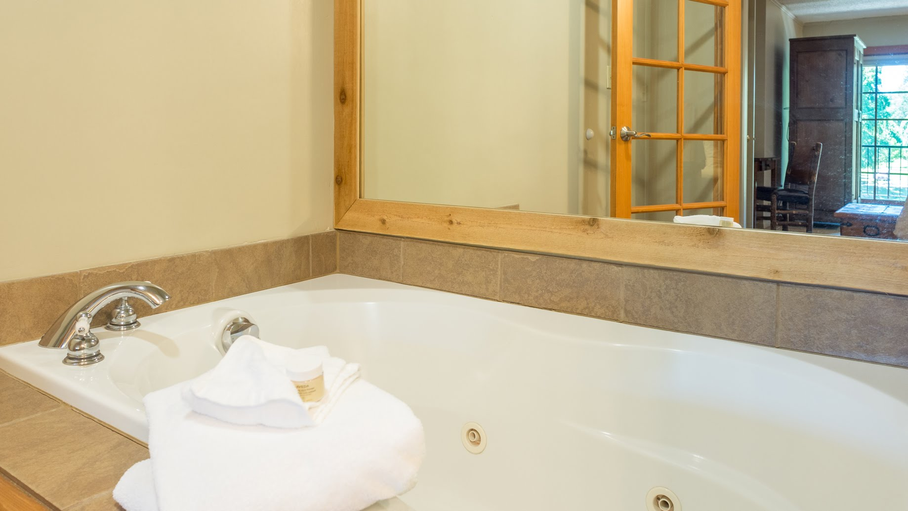 The Master Suite has an oversized whirlpool soaking tub